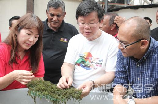 槟城首席部长访问马来西亚理科大学研究中心