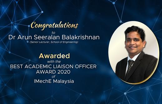 亚太科技大学讲师获得最佳学术联络官奖