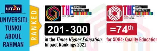 拉曼大学的影响排名为201-300位
