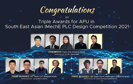 亚太科技大学的三个团队在设计竞赛中获奖